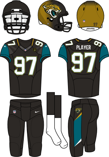 Jacksonville Jaguars Home Uniform - National Football League (NFL ... 624df2802