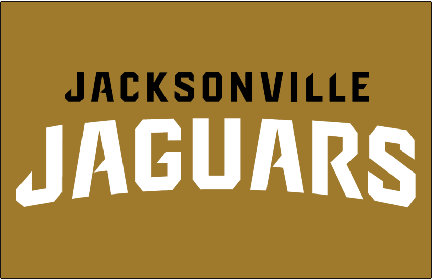 Jacksonville Jaguars Logo Wordmark Logo (2013-Pres) - Jacksonville Jaguars Wordmark Logo on Gold SportsLogos.Net