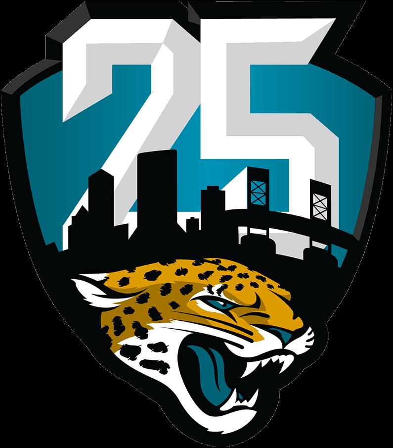Jacksonville Jaguars Logo Anniversary Logo (2019) - Jacksonville Jaguars 25th season logo SportsLogos.Net