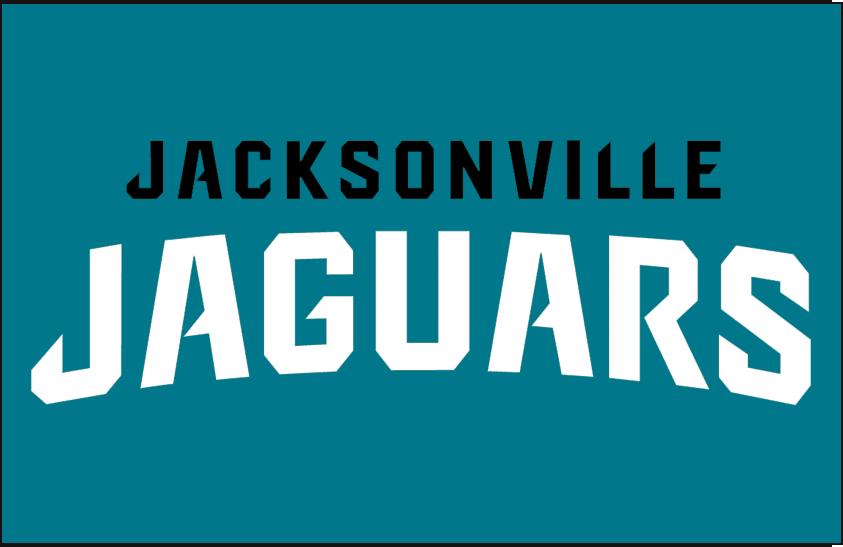 Jacksonville Jaguars Logo Wordmark Logo (2013-Pres) - Jacksonville Jaguars Wordmark Logo on Teal SportsLogos.Net
