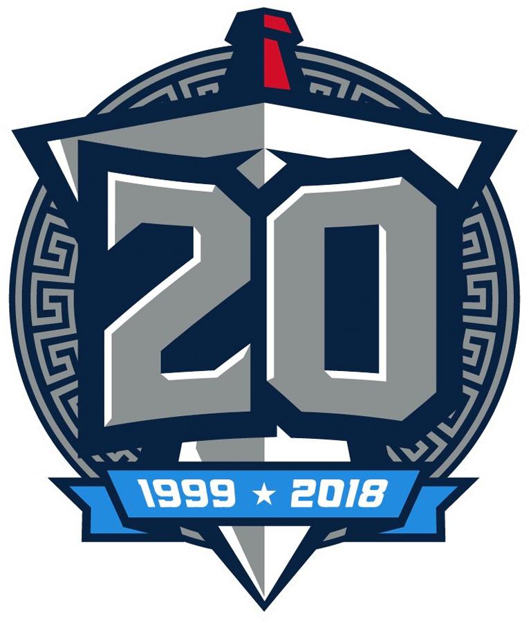 Tennessee Titans Logo Anniversary Logo (2018) - Tennessee Titans 20th season logo SportsLogos.Net