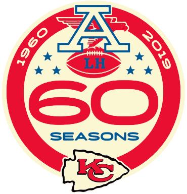 Kansas City Chiefs Logo Anniversary Logo (2019) - Kansas City Chiefs 60th season logo SportsLogos.Net