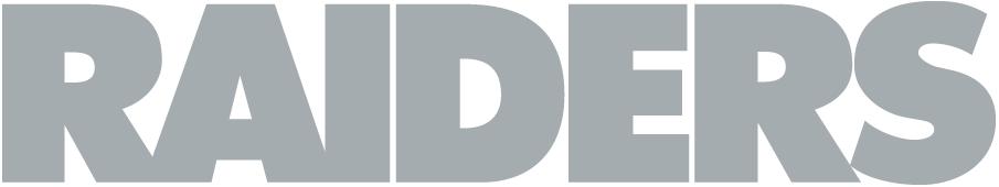 Oakland Raiders Logo Wordmark Logo (1995-2019) - RAIDERS in silver SportsLogos.Net