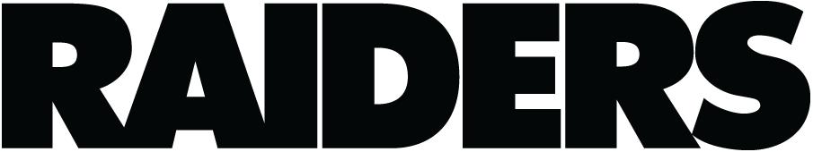 Oakland Raiders Logo Wordmark Logo (1995-2019) - Raiders in black SportsLogos.Net