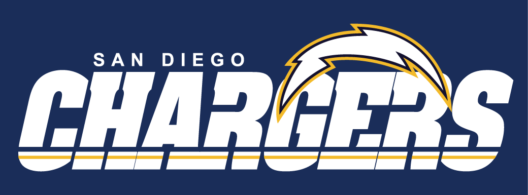 San Diego Chargers Logo Wordmark Logo (1988-2006) -  SportsLogos.Net