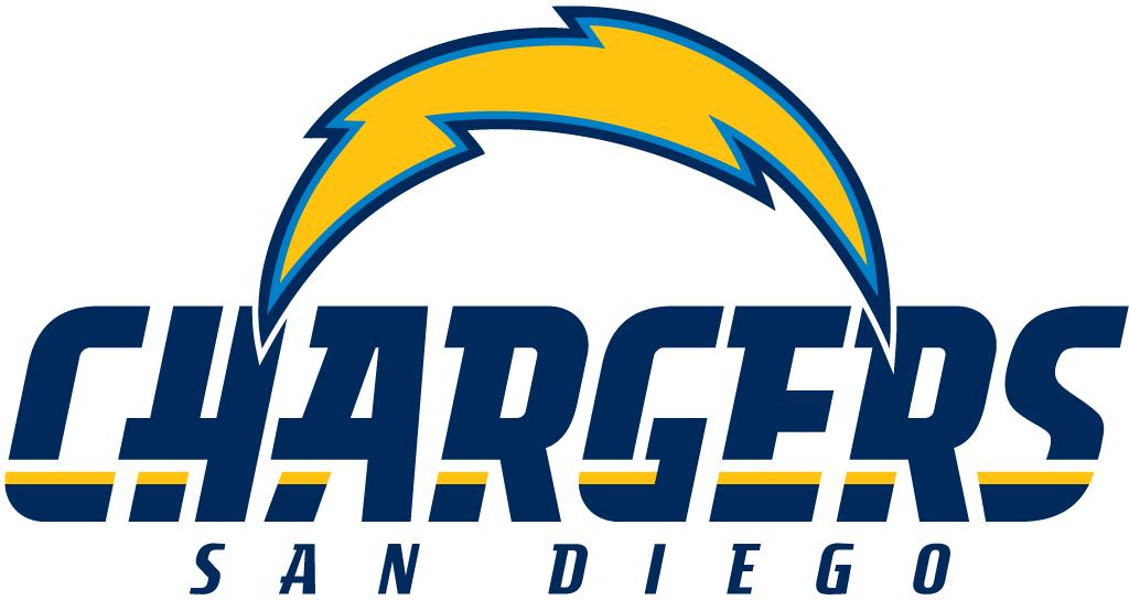 San Diego Chargers Logo Alternate Logo (2007-2016) - Yellow Lightning Bolt with script SportsLogos.Net