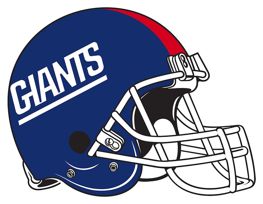 New York Giants Helmet Helmet (1981-1999) - Blue helmet with red stripe.  Computer graphical representation courtesy Dustin Juliano. SportsLogos.Net