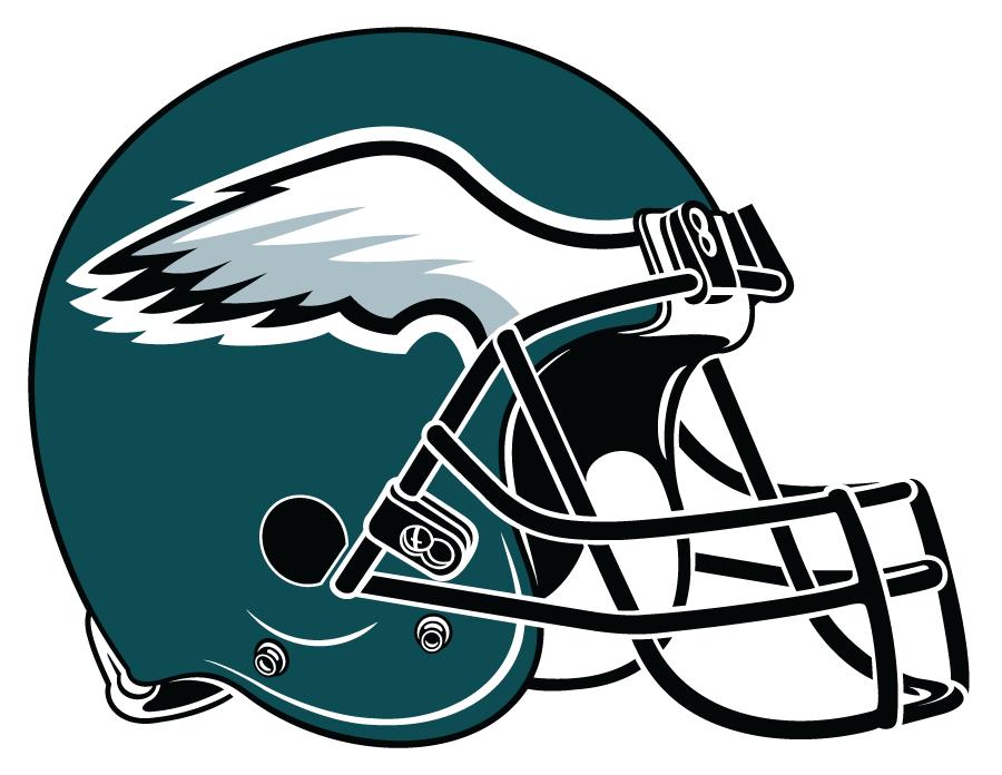 Philadelphia Eagles Helmet Helmet (1996-Pres) - Green helmet with modern silver, black and white wing on side. SportsLogos.Net