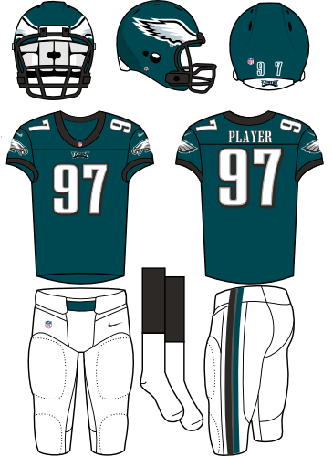 philadelphia eagles home uniform national football league nfl