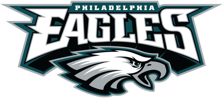 Philadelphia Eagles Logo Alternate Logo (1996-Pres) - Eagles script above Eagle head primary logo SportsLogos.Net