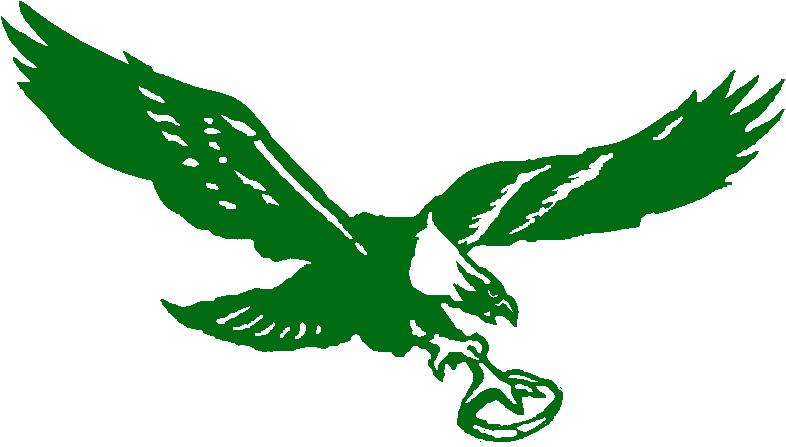 Philadelphia Eagles Logo Primary Logo (1948-1968) - Flying eagle holding football SportsLogos.Net