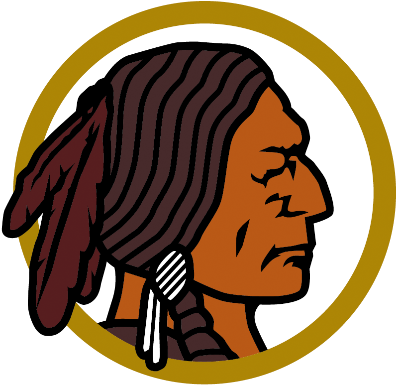 Washington Redskins Logo Primary Logo (1937-1951) - A Native American's head in a circle SportsLogos.Net