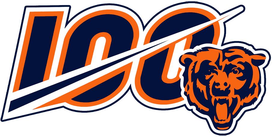 Chicago Bears Logo Anniversary Logo (2019) - Chicago Bears 100th Anniversary Logo SportsLogos.Net