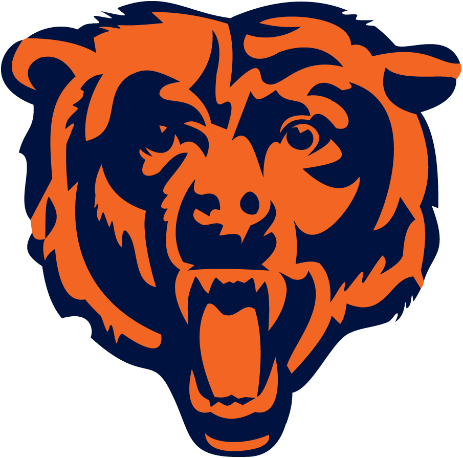 Chicago Bears Logo Alternate Logo (1999-Pres) - A modernised blue and orange bear head roaring SportsLogos.Net