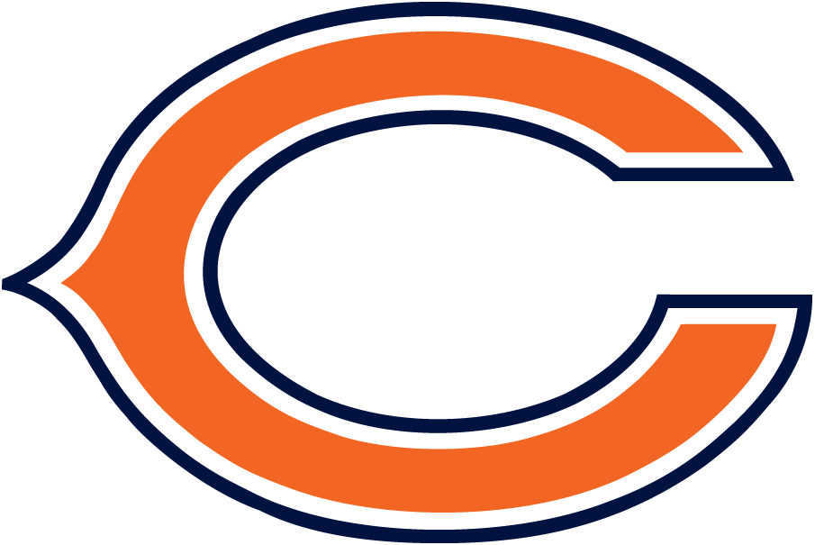 Chicago Bears Logo Primary Logo (1974-Pres) - A blue and orange wishbone c SportsLogos.Net