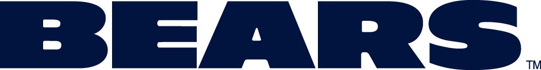 Chicago Bears Logo Wordmark Logo (1974-Pres) - Bears in wide blue capitals SportsLogos.Net