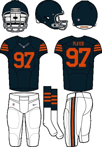 more photos c3025 5b525 Chicago Bears Alternate Uniform - National Football League ...