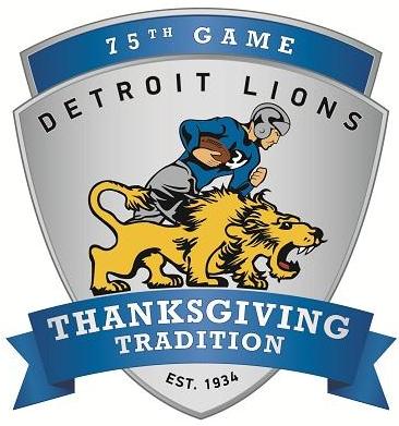 Detroit Lions Logo Special Event Logo (2014) - 2014 Detroit Lions 75th Anniversary Thanksgiving Game Logo SportsLogos.Net