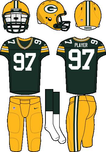 Green Bay Packers Home Uniform - National Football League (NFL ... 0d5270361