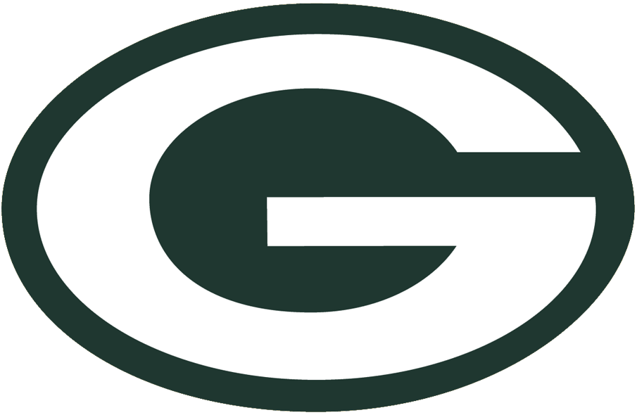 Green Bay Packers Logo Alternate Logo (1980-Pres) - White G inside green oval, no gold trim for this version SportsLogos.Net