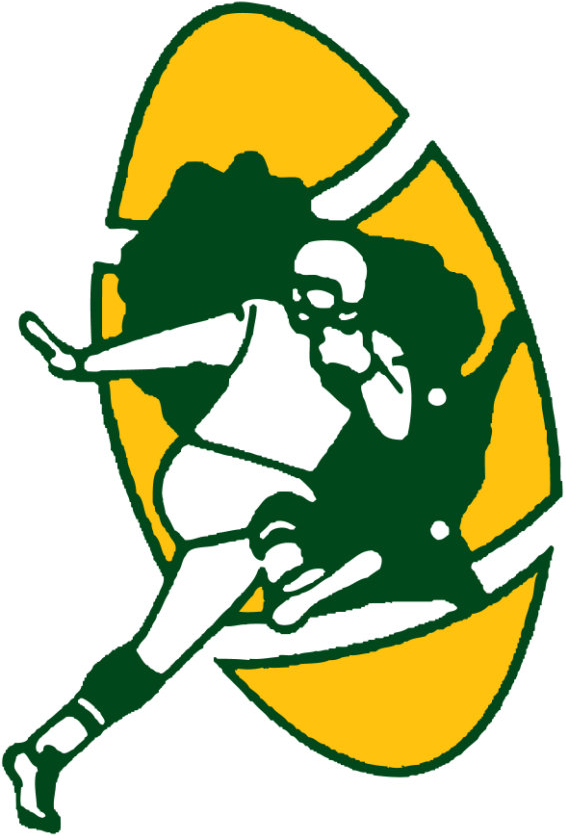 Green Bay Packers Logo Alternate Logo (1968-1979) - Running back with Wisconsin and football SportsLogos.Net