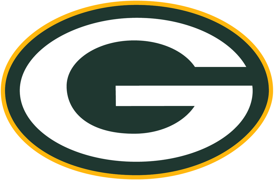Green Bay Packers Logo Primary Logo (1980-Pres) - White G in green oval with yellow outline SportsLogos.Net