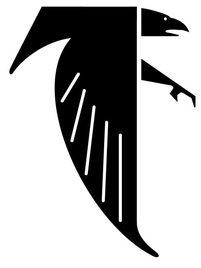 Atlanta Falcons Logo Primary Logo (1966-1989) - A black falcon forming a letter F SportsLogos.Net