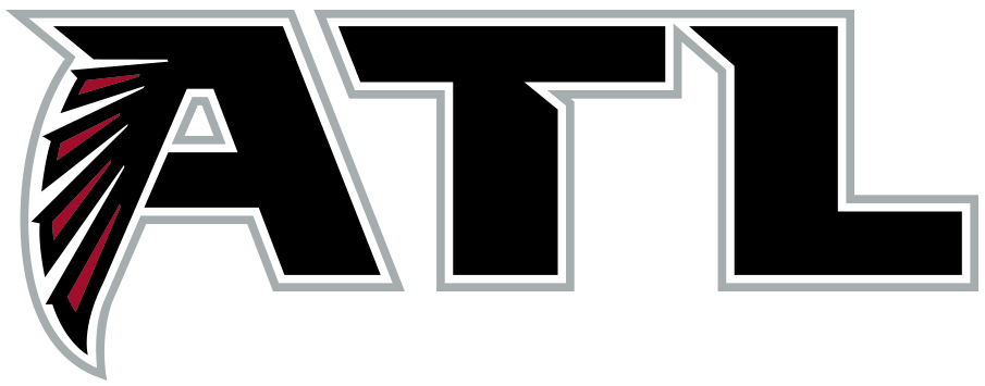 Atlanta Falcons Logo Alternate Logo (2020-Pres) - An ATL in black with the left half of the A forming the wing of the Falcons primary logo SportsLogos.Net