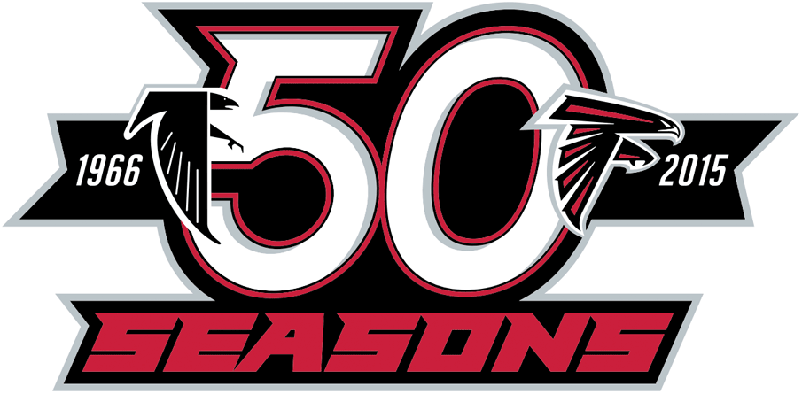 Atlanta Falcons Logo Anniversary Logo (2015) - Atlanta Falcons 50th season logo SportsLogos.Net