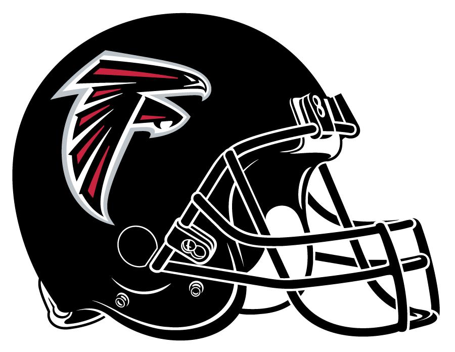 Atlanta Falcons Helmet Helmet (2003-2019) - Black helmet with falcon logo on side.  Computer graphical representation courtesy Dustin Juliano. SportsLogos.Net