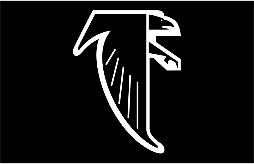 Atlanta Falcons Primary On Dark Logo National Football League Nfl