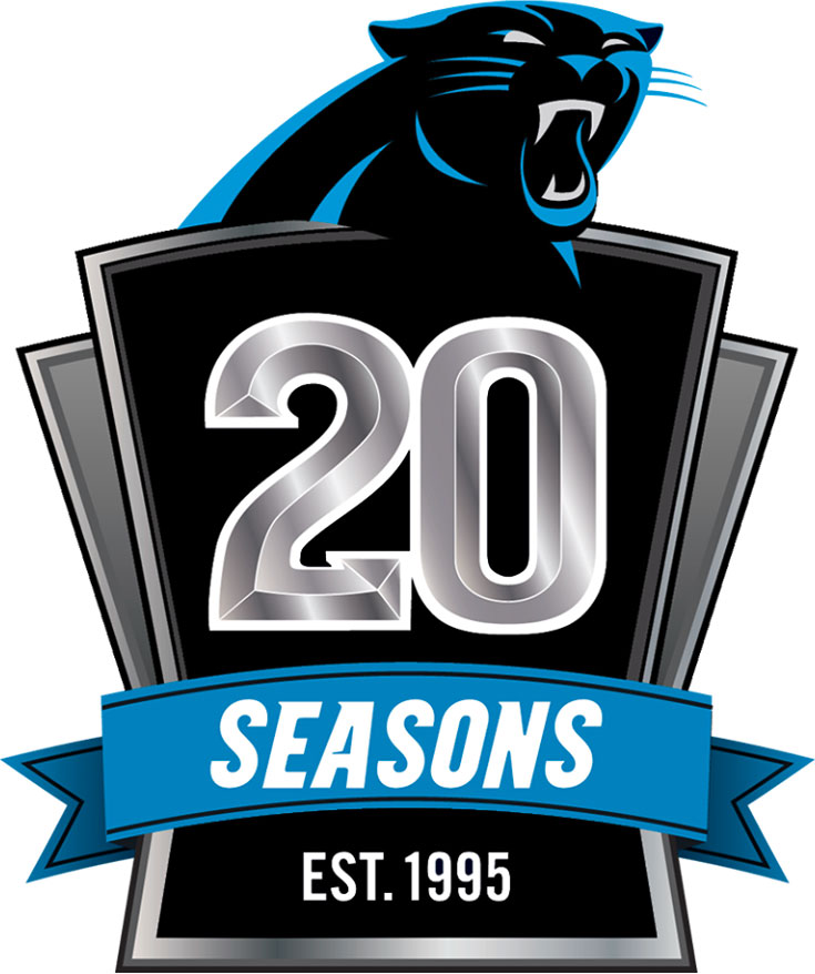 Carolina panthers anniversary logo national football league nfl carolina panthers prev logo altavistaventures Image collections