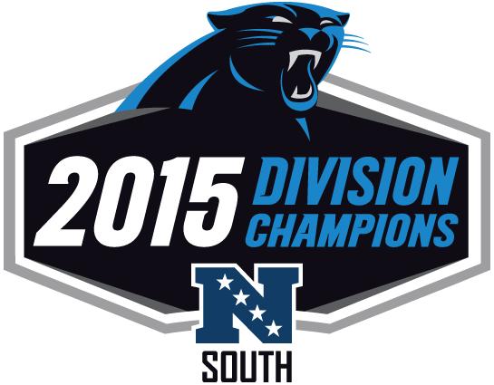 Carolina Panthers Logo Champion Logo (2015) - Carolina Panthers 2015 NFC South Division Champions Logo SportsLogos.Net