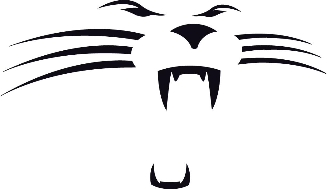Carolina Panthers Logo Alternate Logo (1995-2011) - A panther face in black SportsLogos.Net