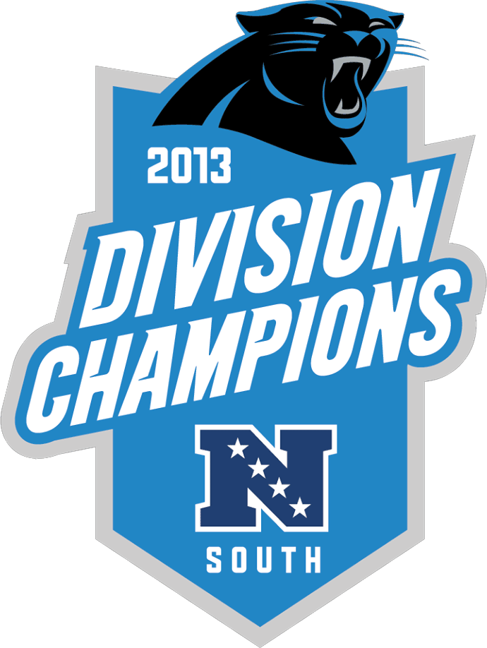Carolina Panthers Logo Champion Logo (2013) - Carolina Panthers 2013 NFC South Division Champions Logo SportsLogos.Net