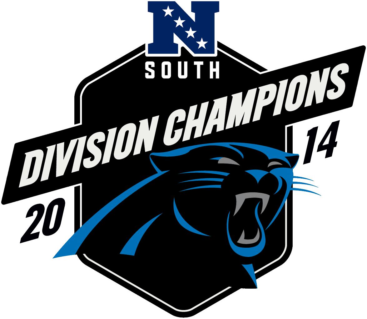 Carolina Panthers Logo Champion Logo (2014) - Carolina Panthers 2014 NFC South Division Champions logo SportsLogos.Net