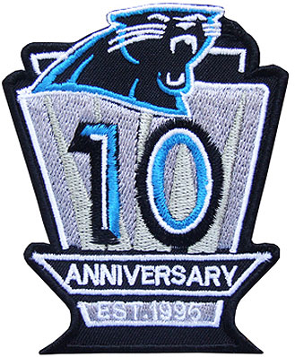 Carolina Panthers Logo Anniversary Logo (2004) - 10th Anniversary of the Carolina Panthers SportsLogos.Net