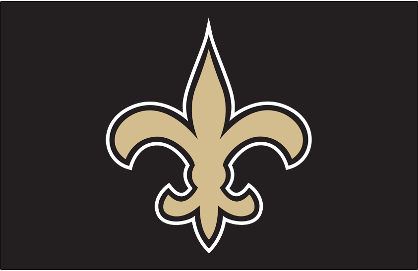 New Orleans Saints Logo Primary Dark Logo (2017-Pres) - Saints logo in gold on black SportsLogos.Net