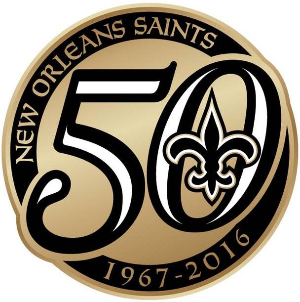 New Orleans Saints Logo Anniversary Logo (2016) -  SportsLogos.Net