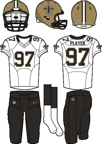 sports shoes a517a 2d147 New Orleans Saints Road Uniform - National Football League ...