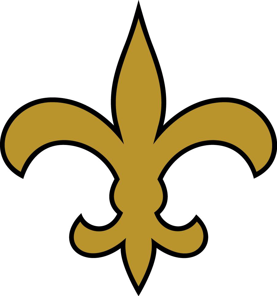 New Orleans Saints Logo Alternate Logo (1976-1984) - Gold fleur-de-lis with black outline SportsLogos.Net