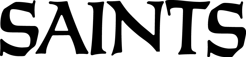 New Orleans Saints Logo Wordmark Logo (1967-Pres) - Saints script in black SportsLogos.Net