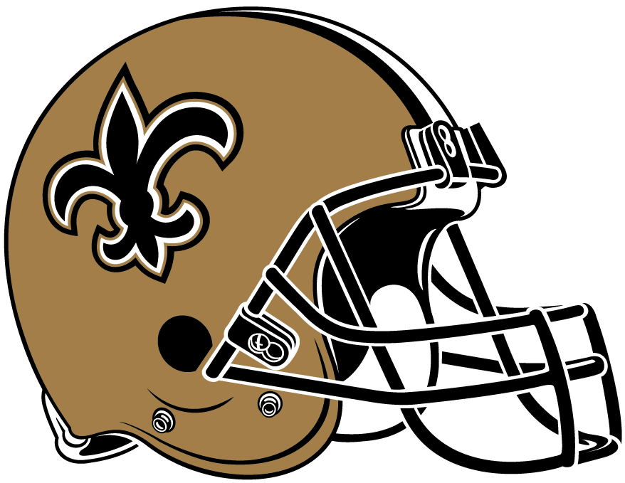 New Orleans Saints Helmet Helmet (2000-Pres) - Gold with black facemask and black and whtie stripes SportsLogos.Net