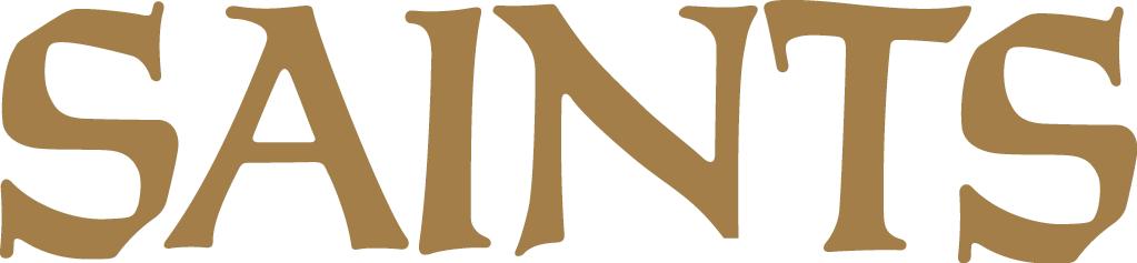 New Orleans Saints Logo Wordmark Logo (1967-Pres) - Saints script in gold SportsLogos.Net