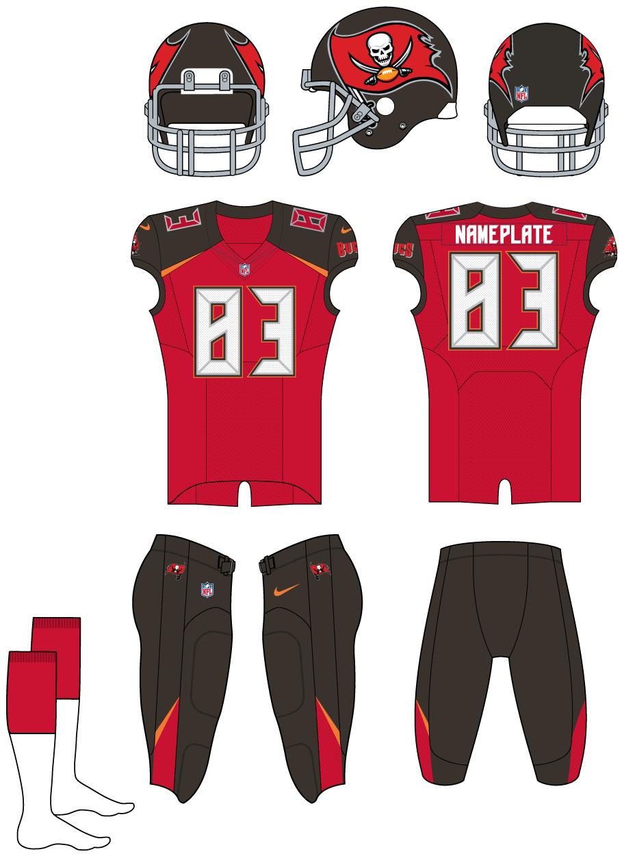 Tampa Bay Buccaneers Home Uniform - National Football League (NFL ... 1287375fd40