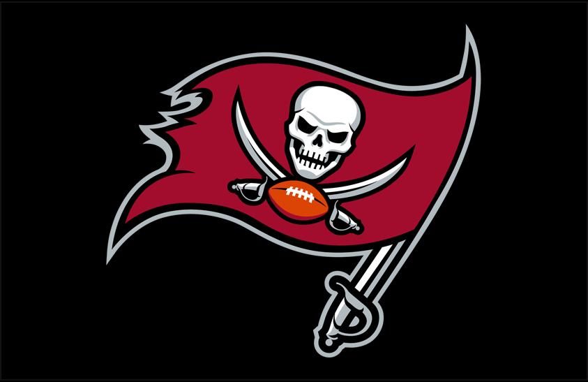 Tampa Bay Buccaneers Logo Primary Dark Logo (2020-Pres) - Tampa Bay Buccaneers primary logo on a black background SportsLogos.Net
