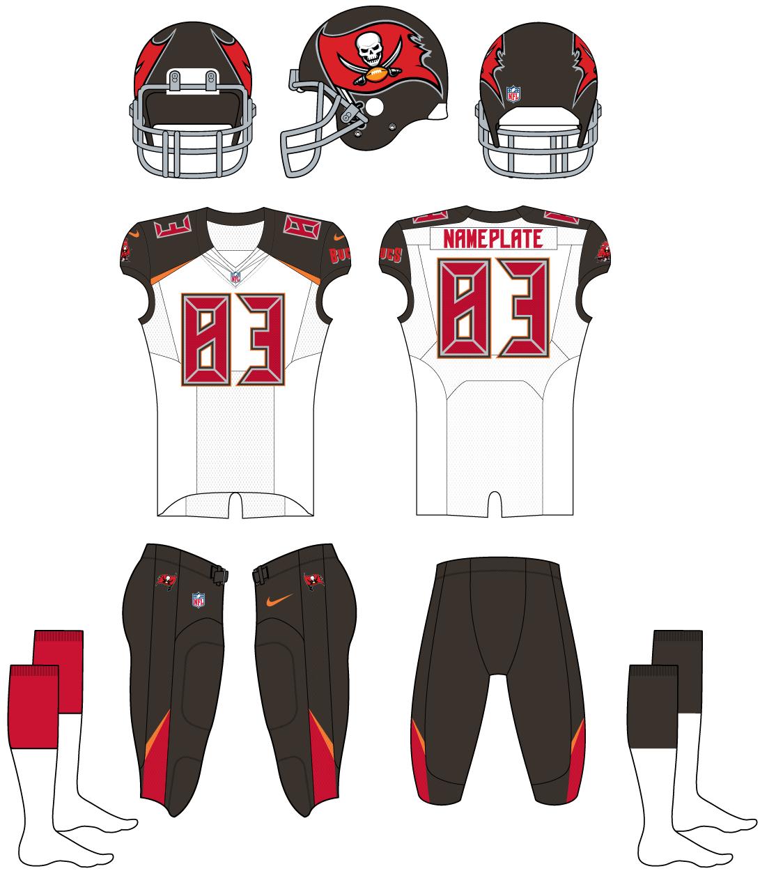 Tampa Bay Buccaneers Uniform Road Uniform (2014-2019) -  SportsLogos.Net