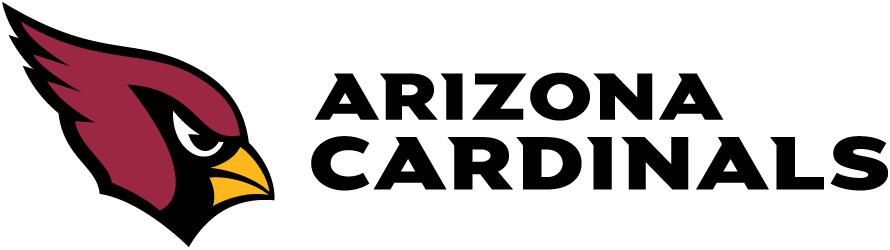 Arizona Cardinals Logo Wordmark Logo (2005-Pres) - Arizona Cardinals wordmark in black to the right of primary logo on white SportsLogos.Net