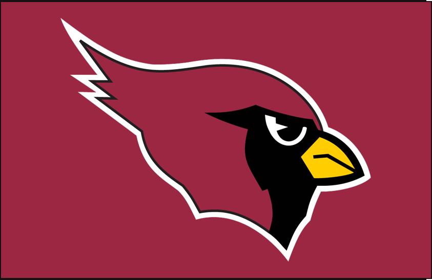 Arizona Cardinals Logo Primary Dark Logo (1994-2004) - Arizona Cardinals primary logo on red SportsLogos.Net