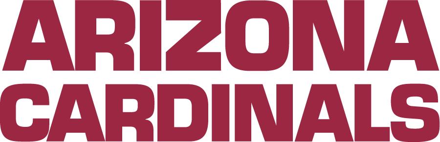 Arizona Cardinals Logo Wordmark Logo (1994-2004) - Arizona Cardinals in bold red capitals SportsLogos.Net